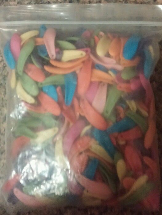 400 Multiple Colored Petal like Plastic Abstract Beads in Crafts   eBay