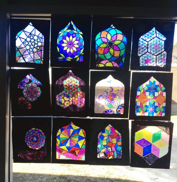 17 best images about art lesson ideas stained glass on for Art glass windows