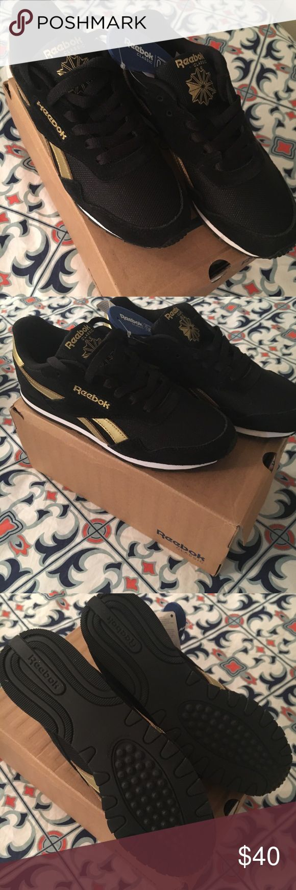 Reebok Classic Royal Ultra SL - Black and Gold Reebok Classic Royal Ultra SL - Black and Gold. Size 7. Brand new. Reebok Shoes Athletic Shoes