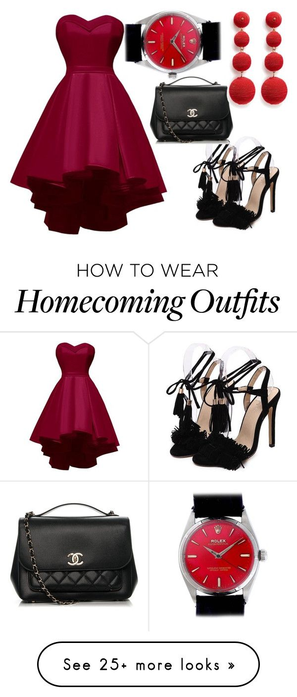 """Untitled #44"" by belabela-1 on Polyvore featuring Chanel, Kenneth Jay Lane and Rolex"
