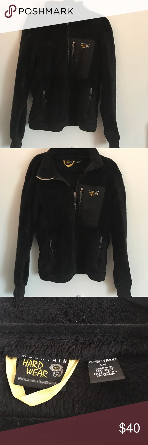 MOUNTAIN HARDWEAR WOMEN'S MONKEY JACKET This is a black jacket in size large from Mountain Hardwear. It's great for colder weather and the fleece is super warm and soft. The jacket is only lightly worn and is still in great condition! Mountain Hard Wear Jackets & Coats Utility Jackets