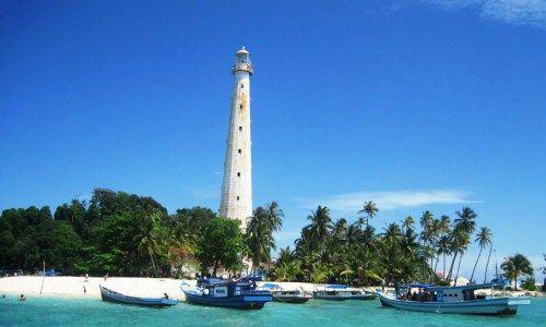 The Lighthouse of Lengkuas Island, Bangka Belitung, Indonesia