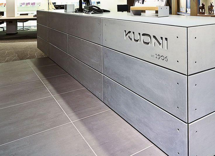 Empfangstheke, Lausanne, Design: Büro Dreimeta, Augsburg (D)
