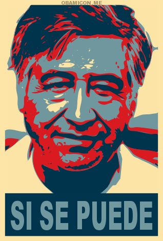 He said it first.  Cesar Chavez, American Farmworkers Union.  Viva la huelga!