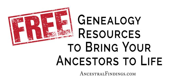 Do you need some excellent free sources of online genealogy records? Here are three websites that are totally free and extremely useful for any genealogist.