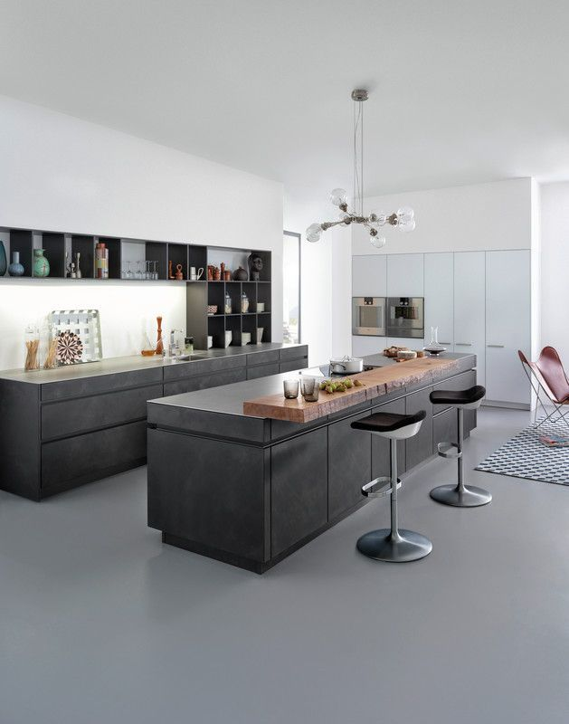 Architektur Kche 1 2015 Black KitchensModern Kitchen DesignsKitchen