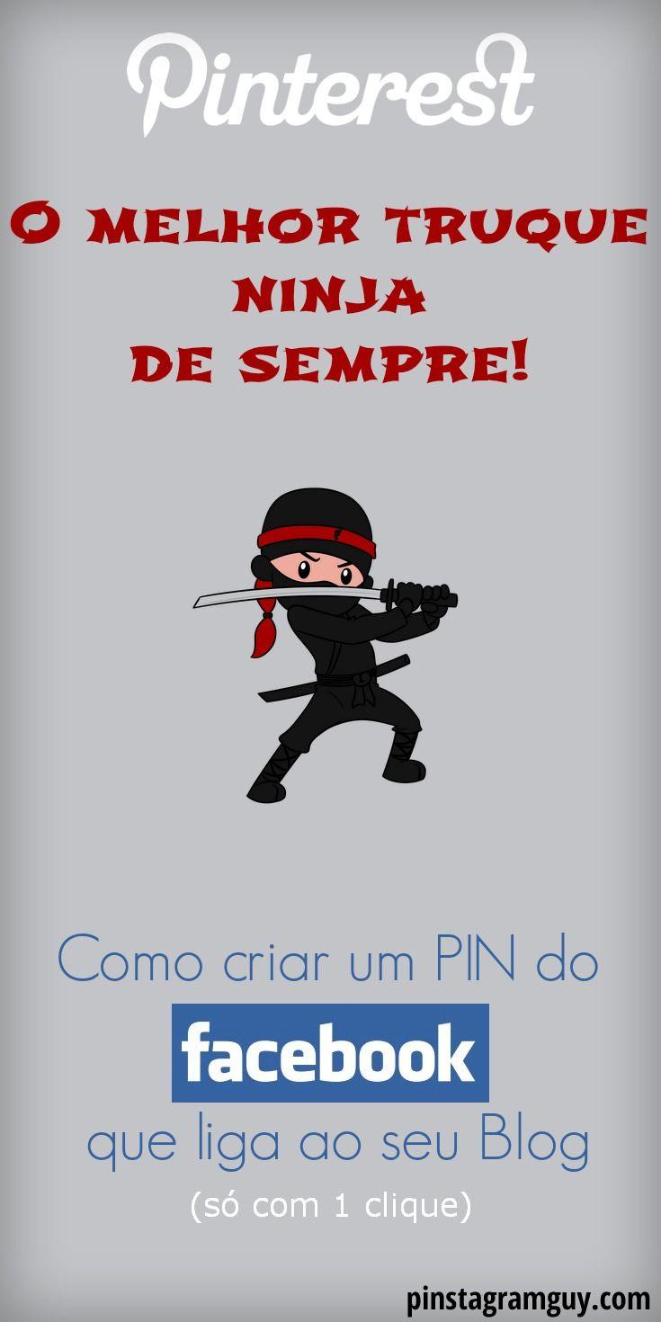 PINTEREST, O melhor truque Ninja de Sempre! Como criar um PIN do Facebook, ligando ao seu site, com 1 clique apenas! REPIN e Clique para saber como... http://pinstagramguy.com/como-criar-pin-facebook/ #pinterest #facebook