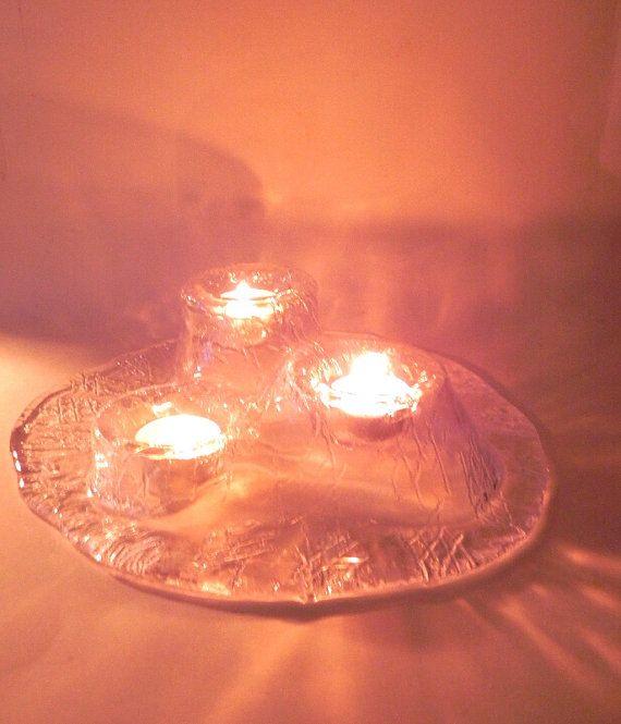 Muurla Volcano vintage handmade glass votive by beautifulsweden