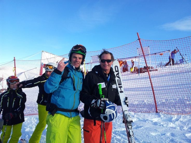 @cristiangemmato meets Kaiser Franz Klammer #Badkleinkirchheim