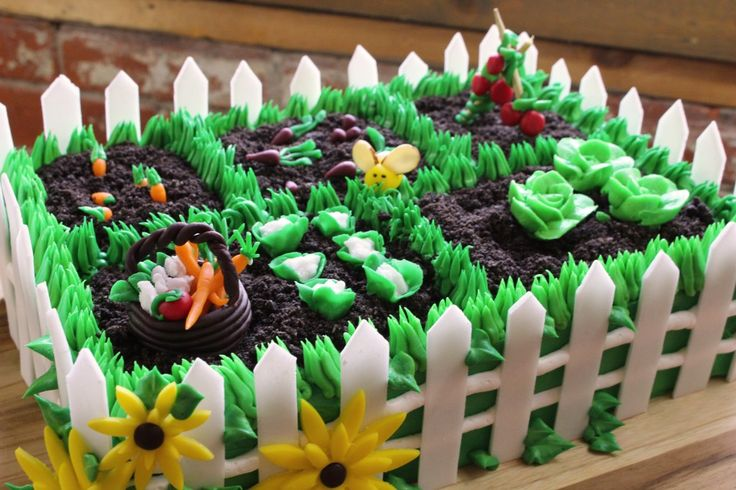 Vegetable Garden Cake! Full tutorial on making the veggies ...the entire recipe is VEGAN TOO!