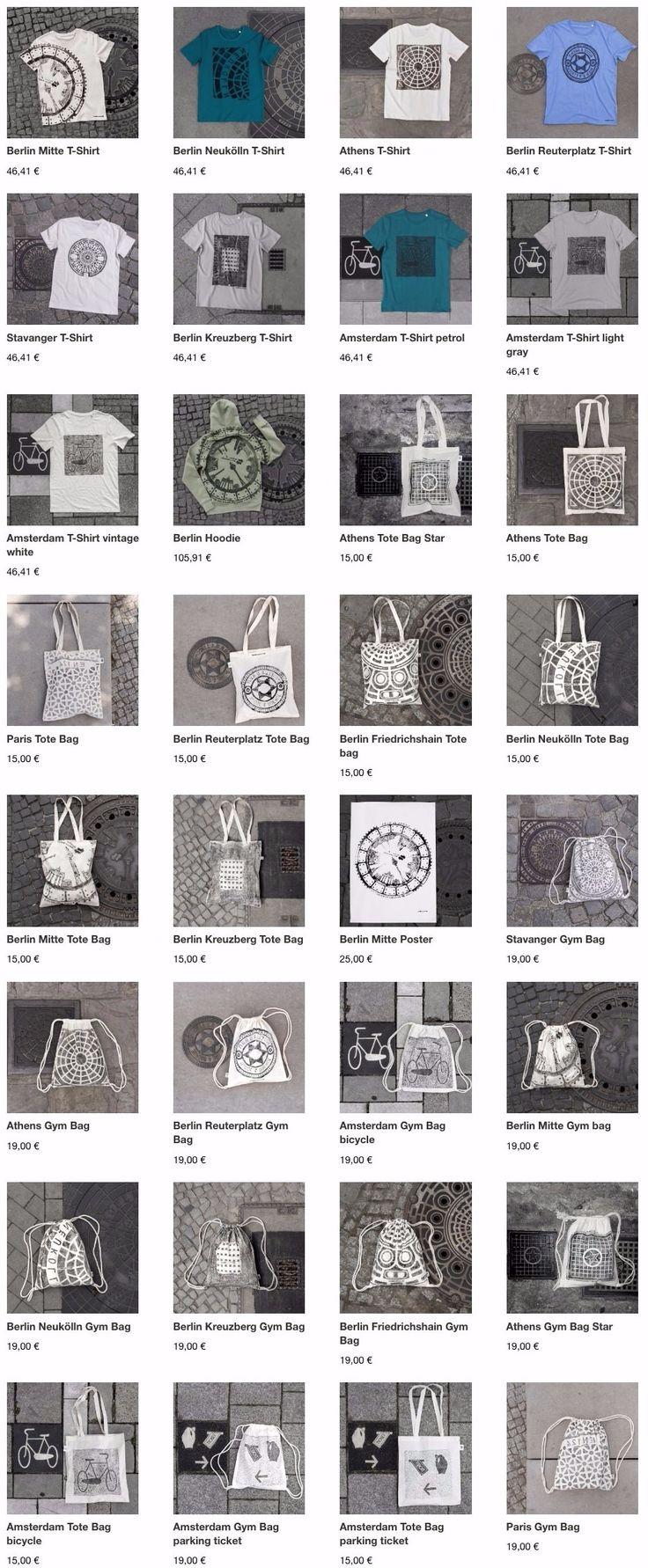 """Um coletivo de artistas de Berlim chamadoRaubdruckerin(que significa algo como """"impressora pirata"""") descobriu uma forma inusitada de criar estampas para camisetas e sacolas.    Eles pegam uns rolinhos de tinta e buscam superfícies inte..."""
