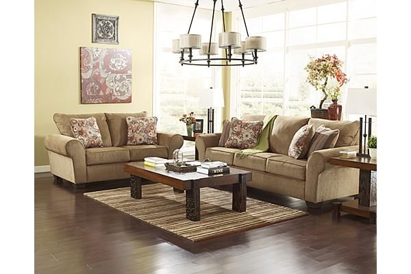 The Galand Sofa From Ashley Furniture Homestore The Warm Country Design Of The