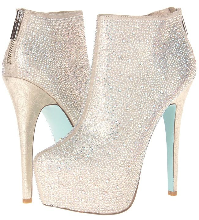 Blue by Betsey Johnson Bride Booties, $140 (was $199) #Christian #Louboutin