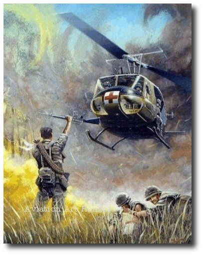 AVIATION ART HANGAR - Dustoff by Joe Kline (UH-1 Huey)