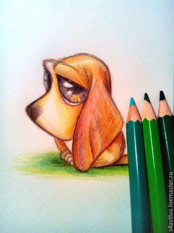 Прикольные простые рисунки цветными карандашами, прикольные картинки