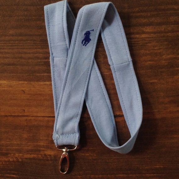 Handmade Lanyards from Recycled Ralph Lauren Polo Shirts! Each Lanyard bears our favorite pony on different designs and beautiful colors.