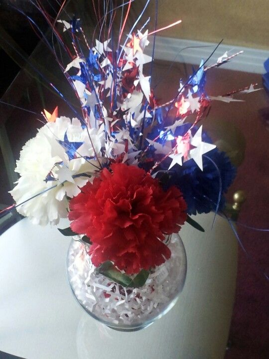 17 Best Images About Fourth Of July Floral Arrangements On