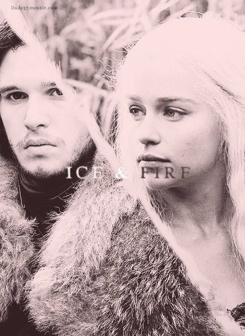 """""""Ice & Fire"""" Jon Snow & Daenerys Targaryen - these are the two characters I think the story is all about. Everyone else has been supporting the storyline"""