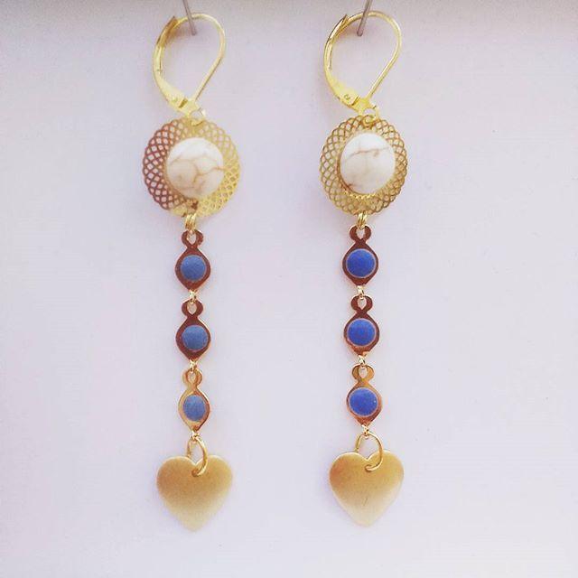 #bo #madebyfrance #earring #jewels #handmade #bonnefetemaman ❤ Modèle : Lydie. 20 euros.