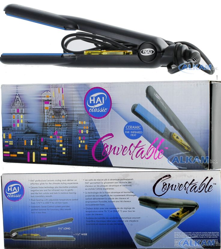 Hair Ties and Styling Accs: Hai Classic Convertable Ceramic Far Infrared Hair Flat Iron 1.25 Inches, New BUY IT NOW ONLY: $72.95