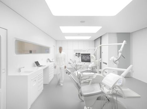 dental office architect. Image 5 Of 10 From Gallery White Space Orthodontic Clinic / Bureauhub Architecture. Photograph By Roland Halbe Dental Office Architect