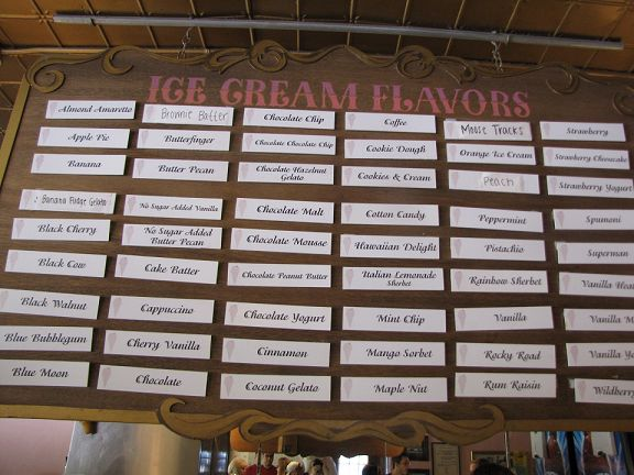 Ice Cream Flavors List | This is just 1 of the coolers with Ice Cream buckets