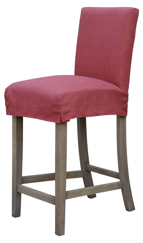Magnificent Plain Jane Bar Stool Slip Cover Persimmon Linen By Forty Pabps2019 Chair Design Images Pabps2019Com