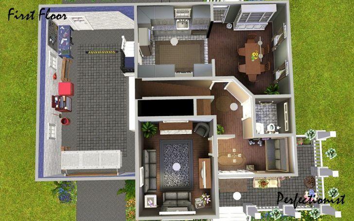 Sims 3 4 Schlafzimmer Haus Design Haus Design Haus Blaupausen Haus
