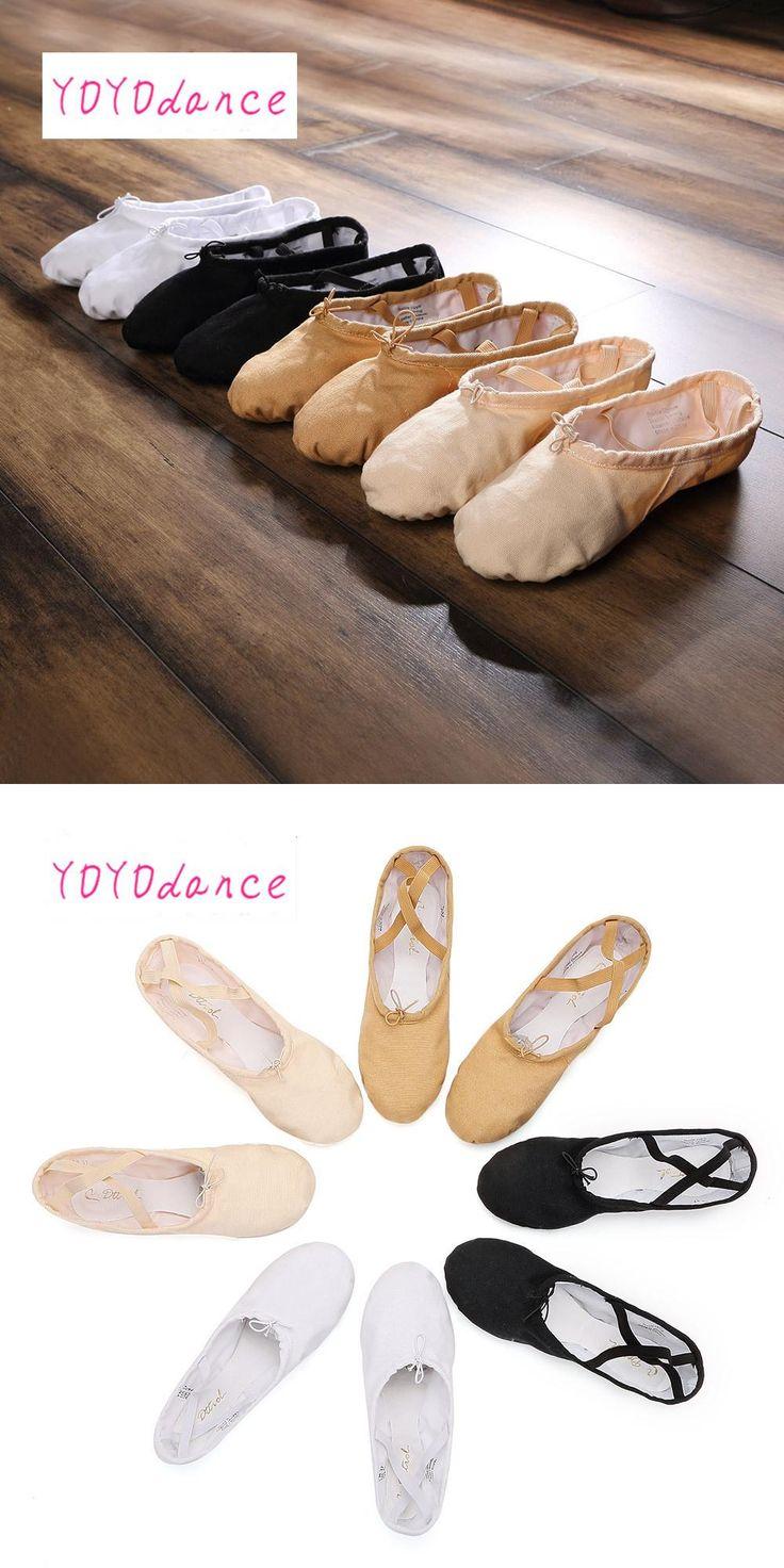 [Visit to Buy] FR23-45 Women's shoes Black White Red Lt pink dance shoes zapatos de baile soft Women Ballet Dance Shoes kids adult 4702 #Advertisement
