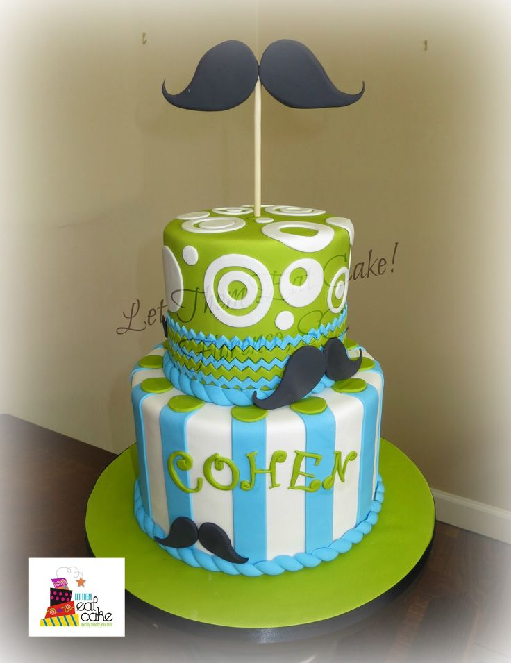 Mustache Baby Shower Cakes | Baby Shower Mustache
