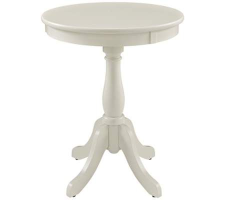 Louisa White Round Accent Table | 55DowningStreet.com 79.99 8 14 14