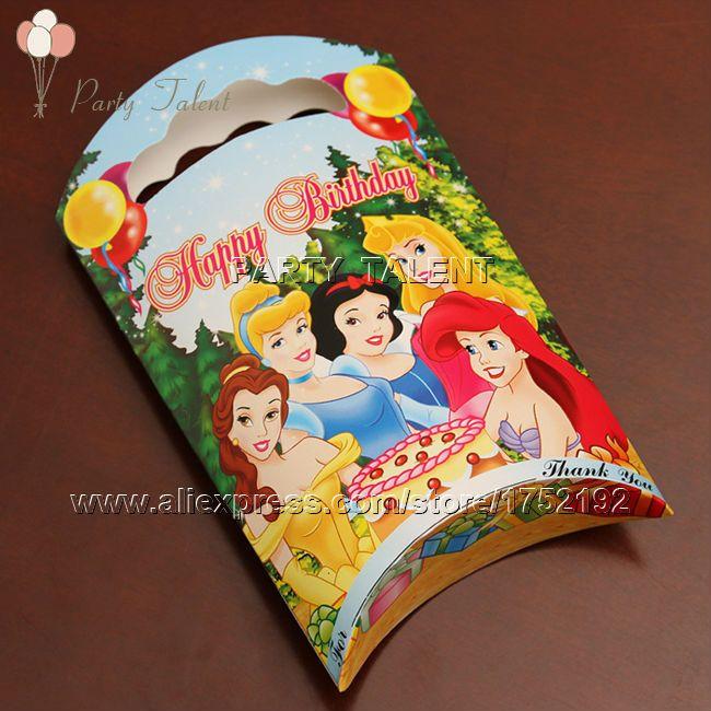 Ну вечеринку поставляет 10 шт. девушки детей три принцесса тема ну вечеринку, ну вечеринку украшения бумага подарок мешок розовый мультфильм шаблон