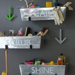 Label Metal Planters for Storage - 49 Brilliant Garage Organization Tips, Ideas