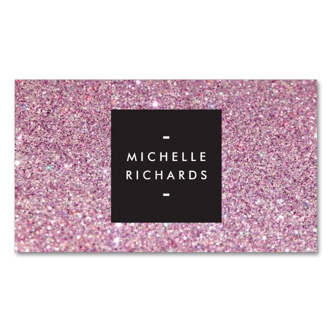 2141 best salon spa business cards images by modern design glamorous pink glitter modern beauty business card reheart Gallery
