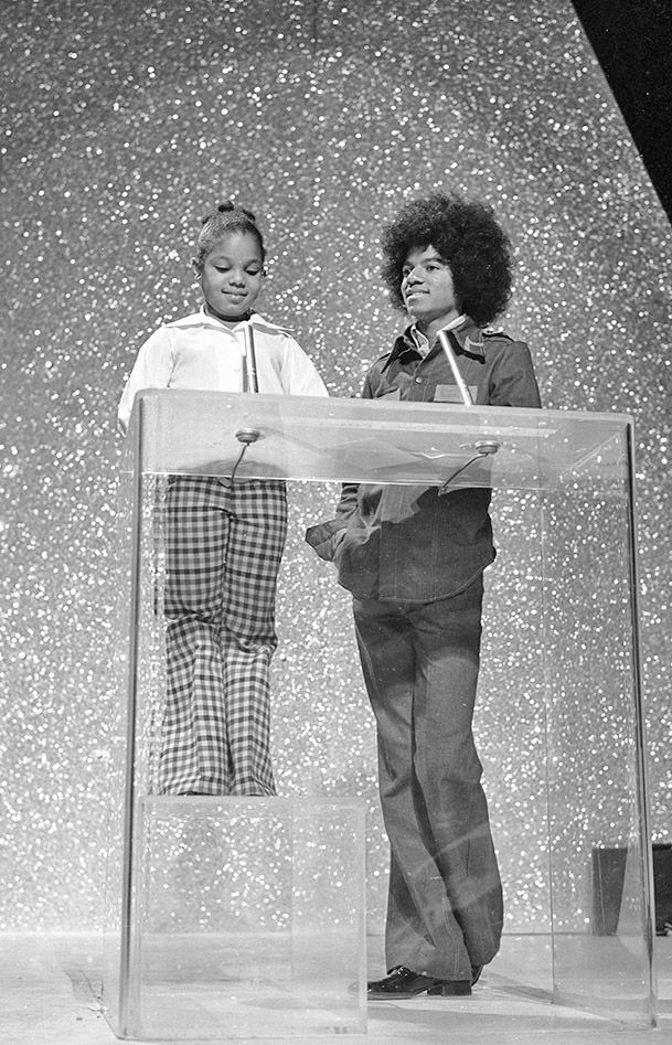 Janet and Micheal Jackson.