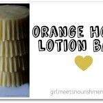 Orange Honey Lotion Bars