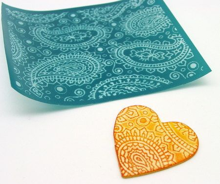 Paisley Texture Stencil for Polymer clay and Crafts. $6.99, via Etsy.