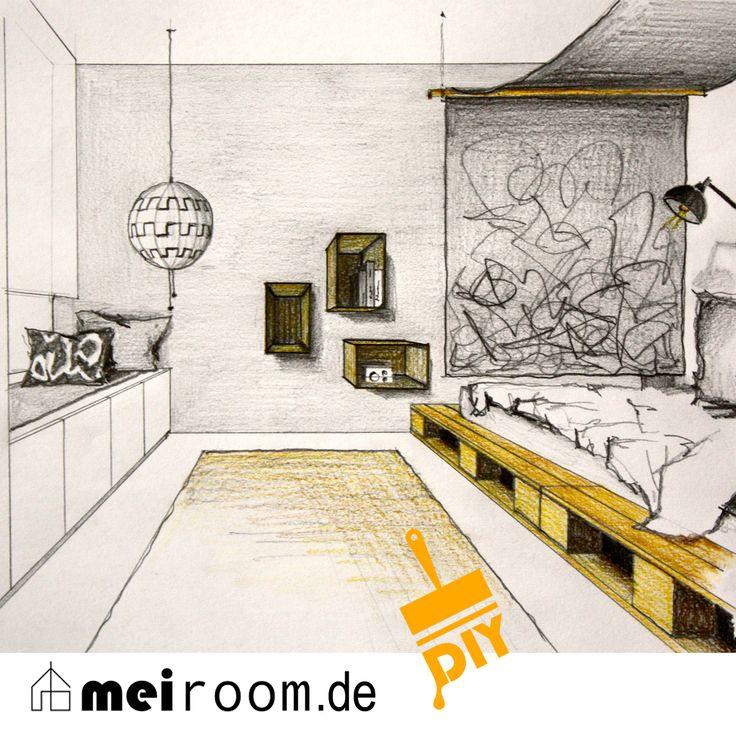 23 best Lil weezyu0027s room images on Pinterest Murals, Urban art - jugendzimmer schwarz wei