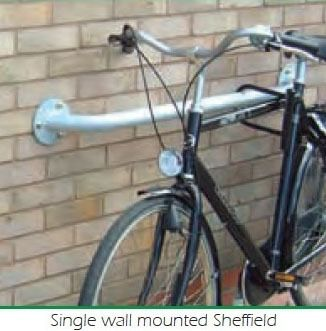 Wall Mounted Sheffield Stand Practical and Durable · Barriers Direct