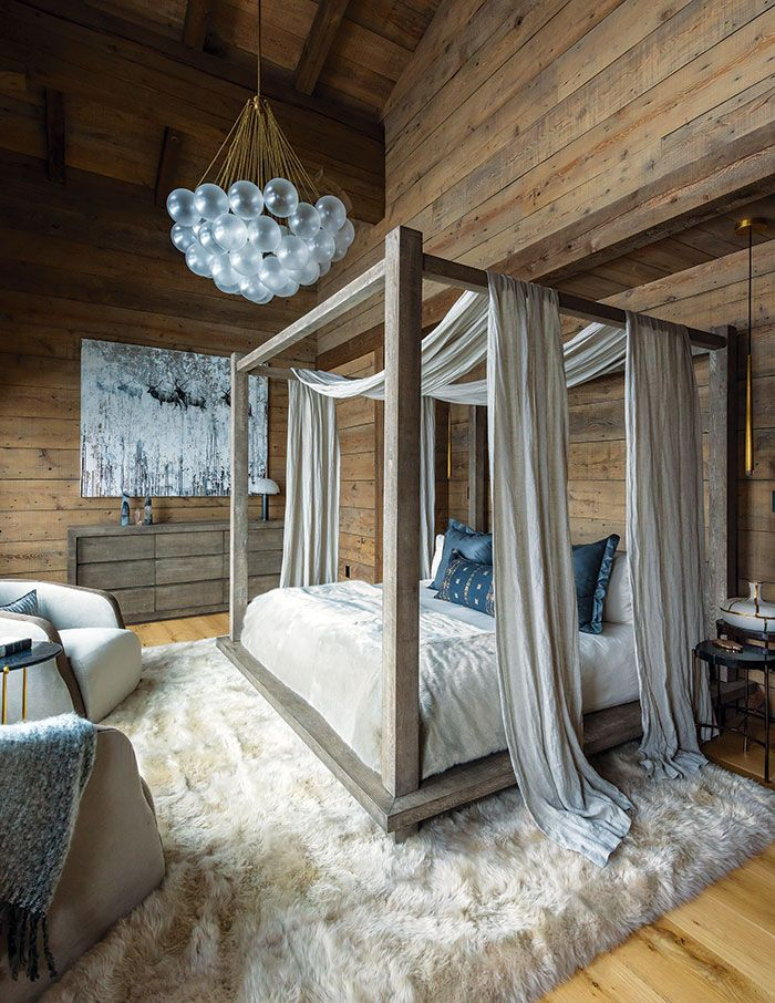 2019 Home of the Year Alpine Chalet Chic Canopy bed