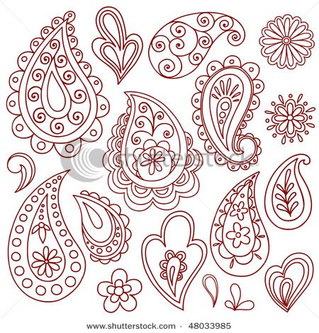 I think painting some sort of paisley design on the mailbox for cards would be nice! Something along these lines.