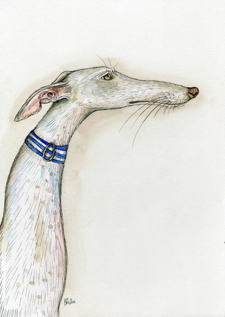 The Simple Truth - Greyhound Art Dog Elle J. Wilson- London