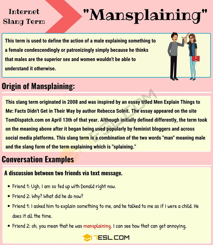 Mansplaining Meaning: What Does This Slang Term Mean? - 7