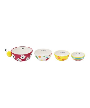 $12  how cute!! Ladybug Garden Measuring Cup Set  by Summer Barbecue Collection on #zulily today!