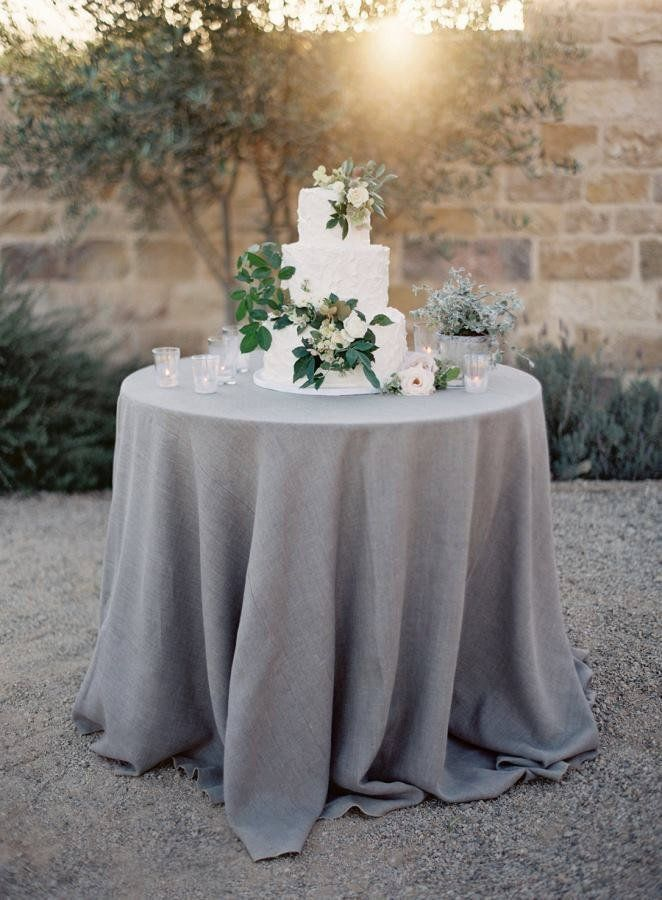By Party Crush Studio Grey Natural Linen Tablecloth