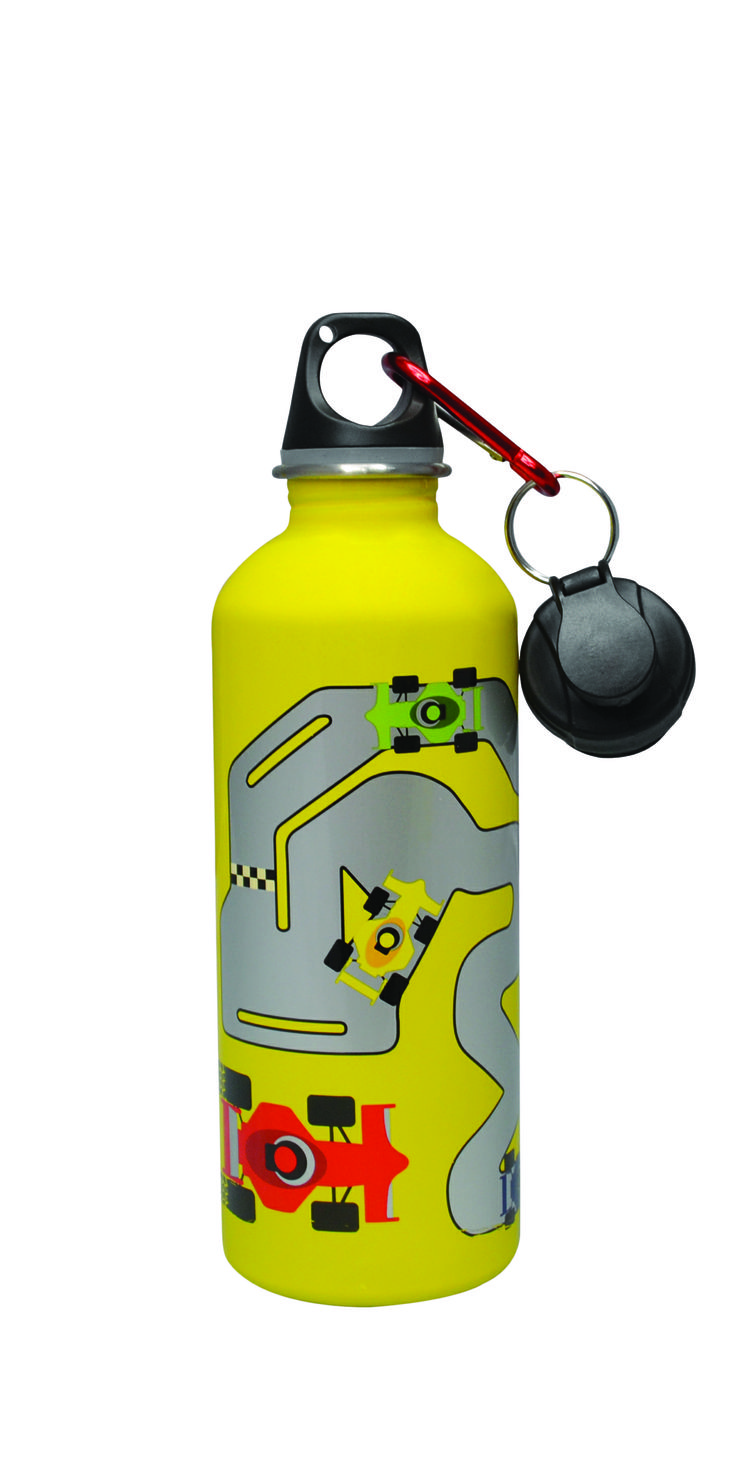 Cheeki Stainless Steel 500 ml Water Bottle - Racetrack. Smart and trendy Cheeki stainless steel water bottles for older  kids and adults alike is a healthy, fun and eco-friendly way to avoid wasting money on bottled water! #bpafree #steelbottles