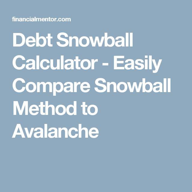 Cele Mai Bune  De Idei Despre Debt Snowball Calculator Pe