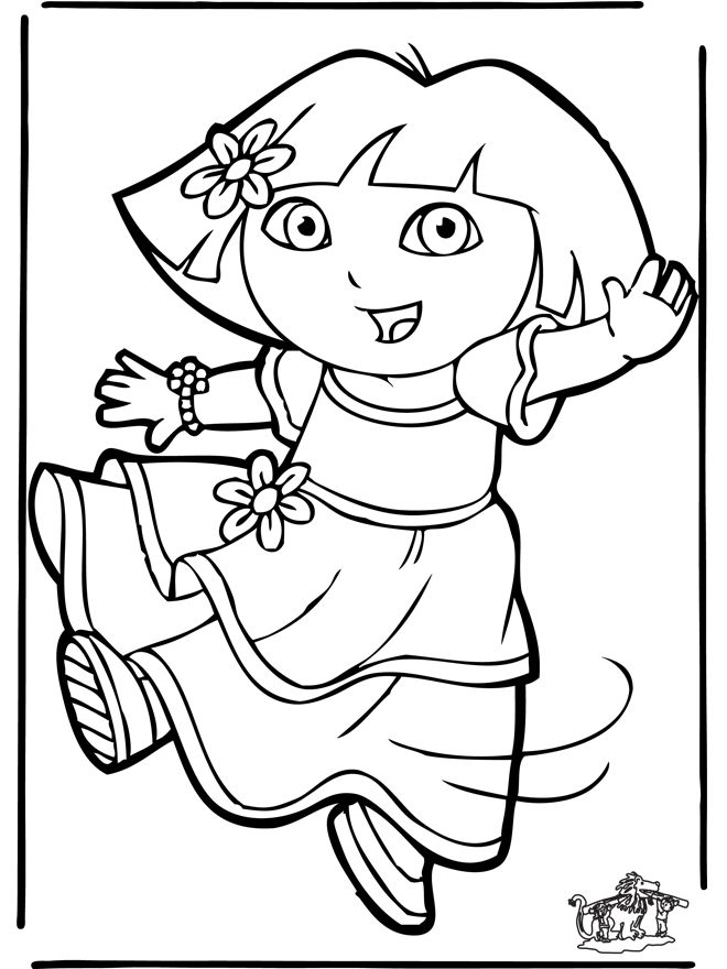 Dora Coloring Page Color SheetsDora The ExplorerMandala