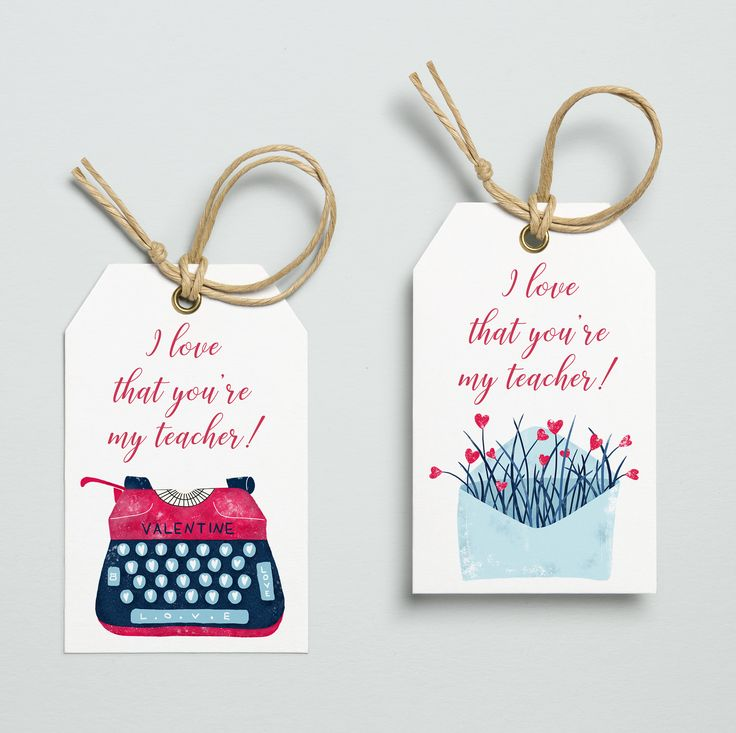 Teacher Valentine Gift, Teacher Valentine Gift Tags, Tags, I Love That You're My Teacher, Printable Tags, Instant Download