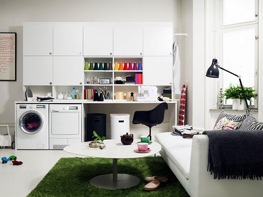 laundry room: Spaces, Laundry Rooms Organizations, Organizations Ideas, Crafts Rooms, Laundry Rooms Storage, Laundry Rooms Design, Rooms Ideas, Craftroom, Sewing Rooms